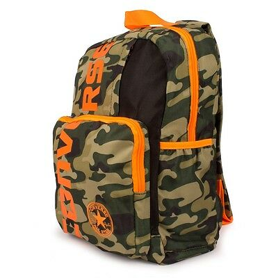 Converse Orange &  Green Camo Camouflage Army Rucksack Backpack Bag NEW