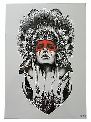 3D Body Art Temporary Tattoo EXTRA LARGE Sheet 21x15cm