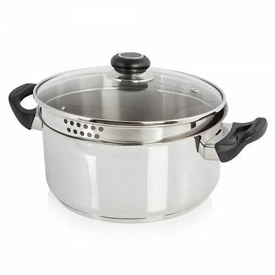 Morphy Richards 24cm Stainless Steel Casserole Pan with Lid