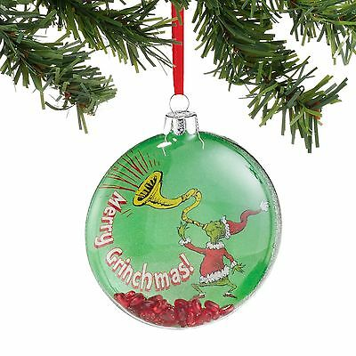 Dept 56 Grinch Collection Merry Grinchmas ! Ornament New 2016