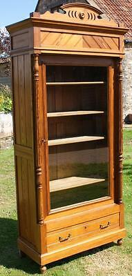 FANTASTIC  LATE 19th CENTURY ANTIQUE FRENCH PINE  DISPLAY CABINET / BOOKCASE