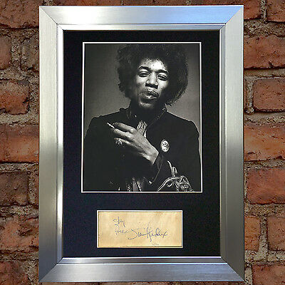 JIMI HENDRIX Signed Autograph Mounted Photo Repro A4 Print 59