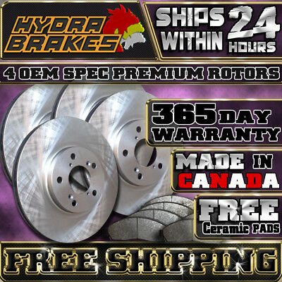 Fits 2011 2012 2013 Dodge Ram 1500 Oe Blank Brake Rotors Ceramic Pads