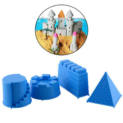 New 4pcs Castle Sand Toys Pyramid Sandcastle Beach Water Kids Gift Outdoors