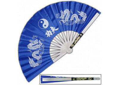 Japanese Tessen-Jutsu Iron Fan Tai Chi Blue