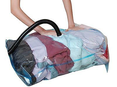 10 X  LARGE VACCUM COMPRESSED STORAGE SPACE SAVER BAGS 60 X 80 CM-uk seller