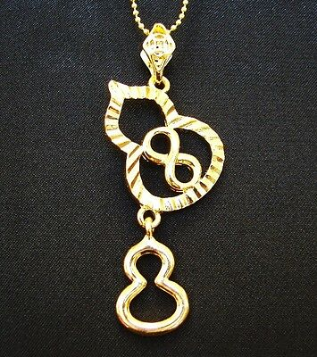 Feng Shui Double Wu Lou Necklace with Number 8