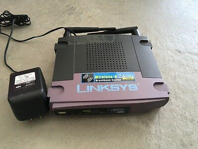 Linksys Wireless-G Broadband Router WRT54G v3 4 port switch 2.4GHZ
