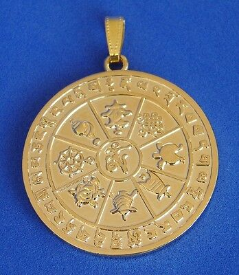 Feng Shui Eight Auspicious Objects Pendant for Protection