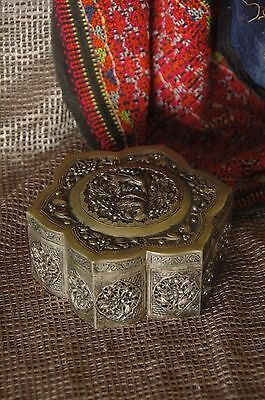 Old Silver Plated Vanity Box …beautiful shape & detail