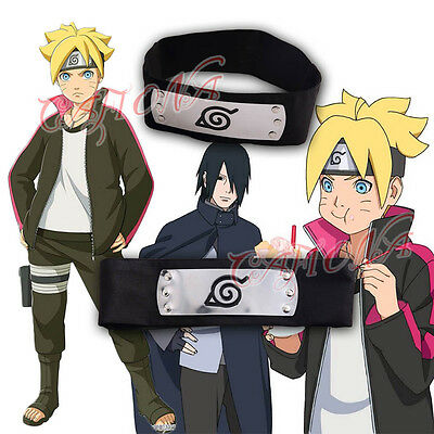 Cafiona New Naruto Uzumaki Boruto Cosplay Costume Accessories Black Headband Hot