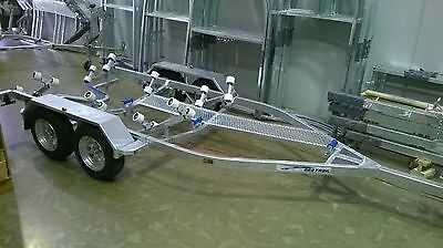 Sea-Trail 6.3 metre tandem braked boat trailer.