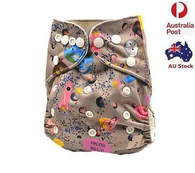 New Modern Cloth Nappy Waterproof-Outer-Layer One-Size-Fit-All Nappies (D119)