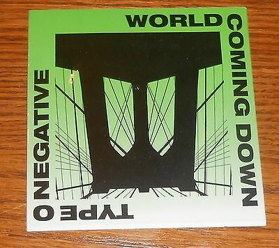 Type O Negative World Coming Down Sticker Decal 1999 Original Promo 4x4