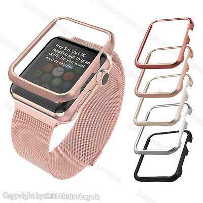 Milanese Loop Stainless Steel Watch Band Strap Metal Frame For Apple Watch 38/42