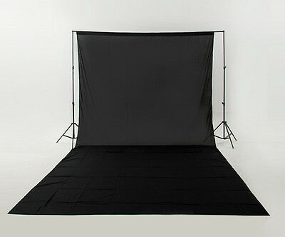 Photo Lighting Studio Support Stand Kit Set Black Background Backdrop Muslin UK