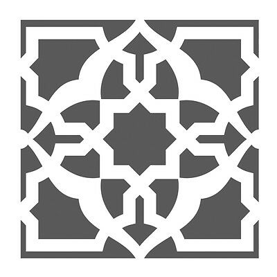 Wall Stencils Damask Tile Stencil for DIY Decor Faux Reusable Template V0024