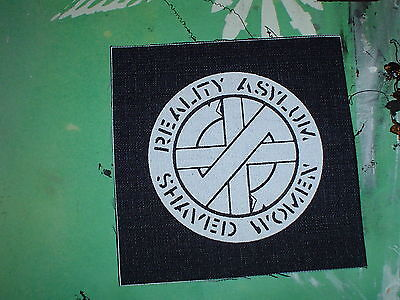 "Crass ""reality Asylum/shaved Women"" Cloth Patch Penny Rimbau Anarcho Punk Diy"