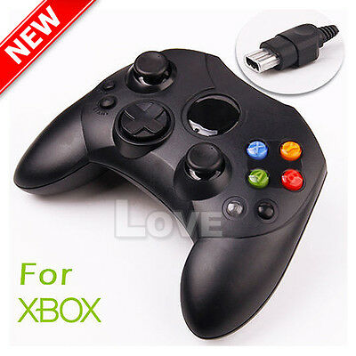 OZ  Dual Shock Gamepad Wired Game Controller Joypad for PC Microsoft XBOX Black