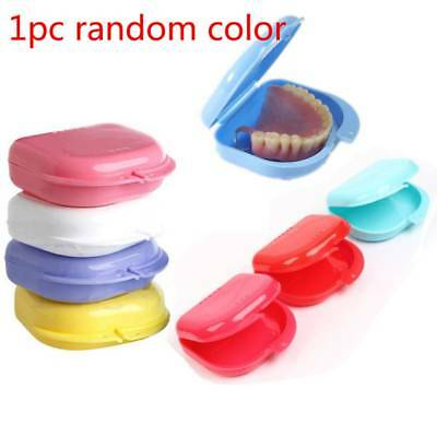 Dental Retainer Box Dentures Sport Mouthguard Brace Denture Storage Box