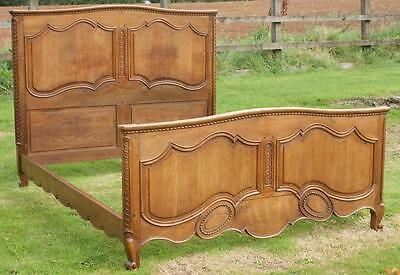 A BEAUTIFUL  EARLY 20th CENTURY FRENCH OAK NORMANDY DOUBLE BED