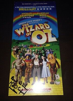 Michael Crawford Signed The Wizard Of Oz Theatre Flyer Some Mothers Do Av Em