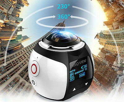4K 360 Panoramica 30Fps Wifi Sport Action Camera Subacquea 16Mp Videocamera V1