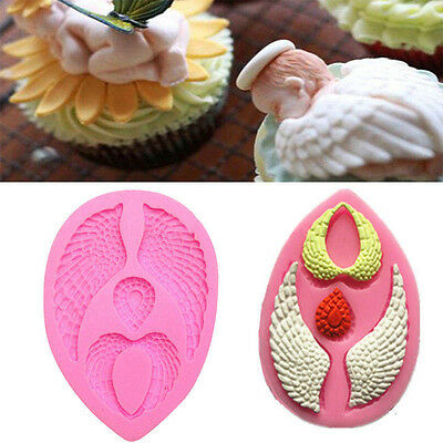 Silikonform Angel Wings Mold Kuchen Fondant Chocolate Backen Werkzeug Ausstecher