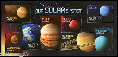 2015 Our Solar System - Minisheet of 8 Stamps - MUH