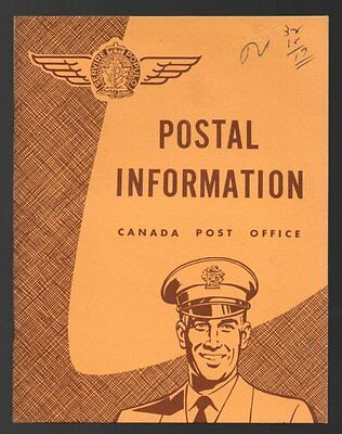 CANADA POST OFFICE POSTAL INFORMATION 1950s? Booklet Postal Rates Packages