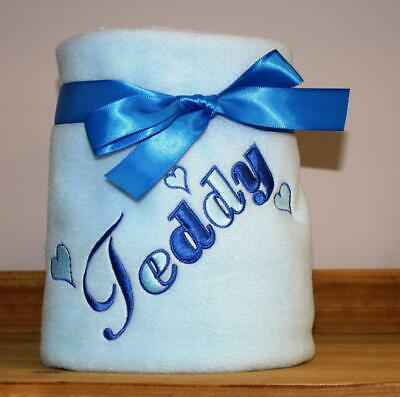 Personalised Embroidered Dog/puppy Blanket With Your Dogs Name Lots Of Colours