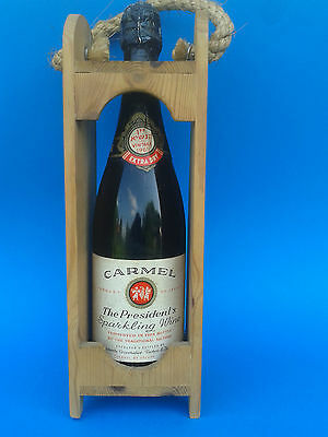 Old Original bottle of wine Carmel Israel 1965. Vintage Judaica