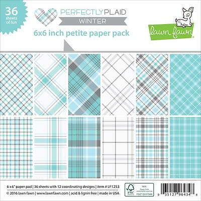 Lawn Fawn Perfectly Plaid 6 x 6 Petite Paper Pack - Winter LF1253