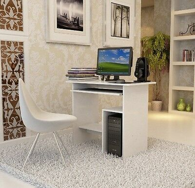 Childrens Small Computer Desk White Bedroom Furniture Kids Study Writing Table
