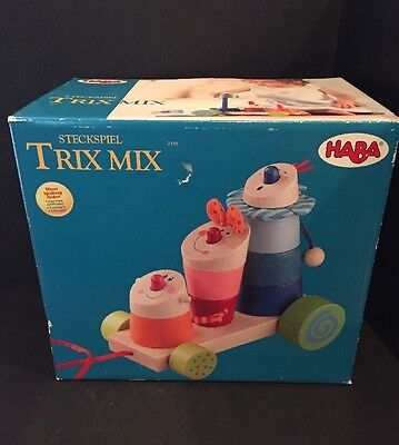 HABA Stack And Pull Trick Mix New