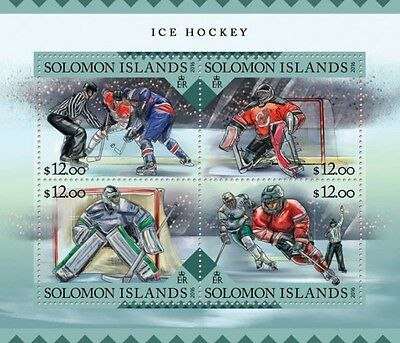 Z08 IMPERFORATED SLM16210a SOLOMON ISLANDS 2016 Ice Hockey MNH
