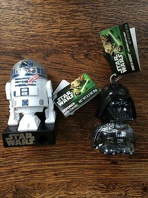 Star Wars Darth Vader and R2D2 Candy Dispenser Action Figure Toy with Sound