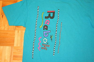 Vintage REEBOK T-Shirt 90's VTG Funky Logo Fresh Prince of Bel Air style MEDIUM
