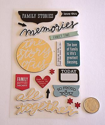 Scrapbooking No 280 - 15 Plus Chipboard Family Themed Stickers