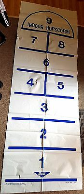 Vintage 1978 K-Tel INDOOR HOPSCOTCH Game Plastic Mat - Indoor fun for the Kids