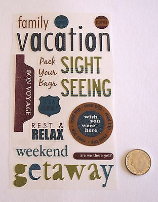 Scrapbooking No 370 - 14 Small To Medium Travel Sayings Stickers Pack