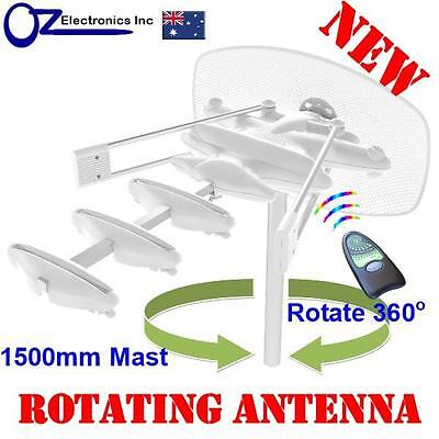 Rotating Outdoor TV Amplified Antenna UHF VHF FM 4 AUSTRALIAN Caravan RV House