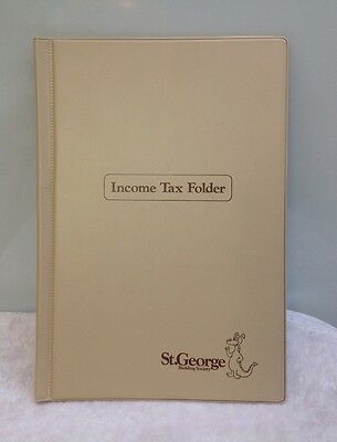 Vintage St George Building Society Income Tax Folder Bank