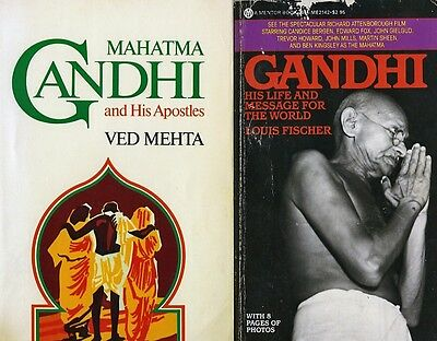 MAHATMA GANDHI'S LIFE BIOGRAPHIES x2 Books by Ved Mehta & Louis Fischer