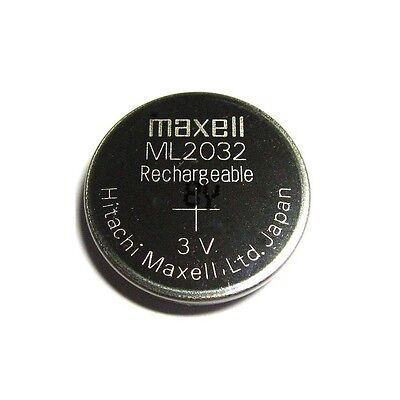New Genuine for Maxell ML2032 ML 2032 Rechargeable 3V Coin Cell Battery