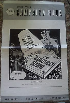 The Square Ring 1953 Rare Vintage Ealing Studios Campaign Book 4 Pages