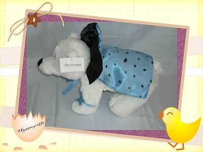 peluche ours polaire Thierry MUGLER  blanc cape bleue noire Marionnaud collector