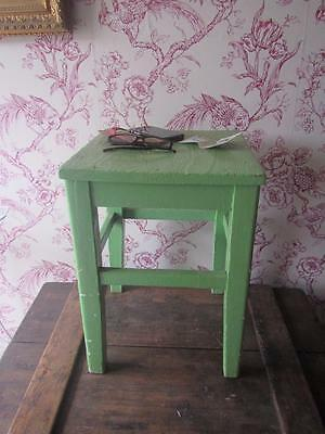Vintage Retro Wooden Milking Stool Side Table Shabby Old Paint Free Postage