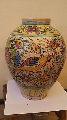 PARSIAN QAJAR Fish Green Antique   BIG VASE  ISLAMIC GLAZED ART POTTERT CERAMIC