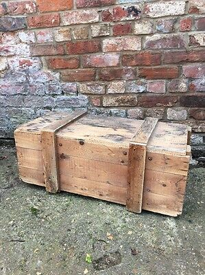 Vintage Army Ammo Trunk Chest Box Coffee Table Toy Storage Rustic Farmhouse